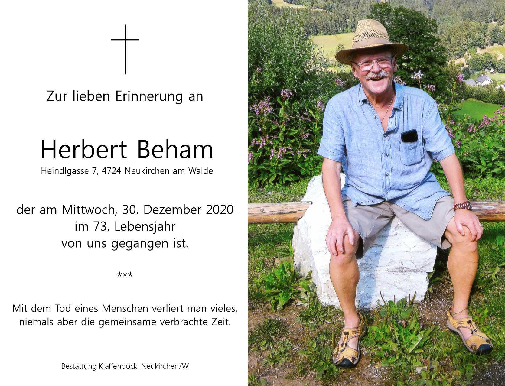 Die Sportunion trauert um Herbert Beham